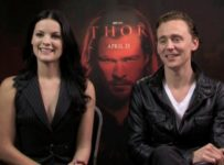 Jaimie Alexander and Tom Hiddleston on 'Thor'