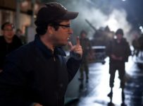 JJ Abrams on the set of SUPER 8