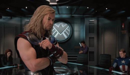 Screenshot from The Avengers teaser trailer