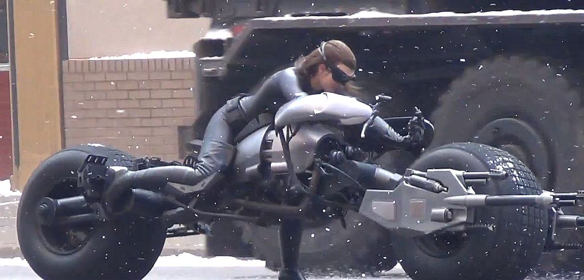 Catwoman on the Batpod