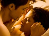 The Twilight Saga: Breaking Dawn - Part 1 - Edward and Bella in bed