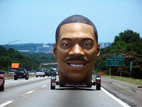 Eddie Murphy Giant Head Car