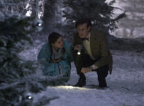 Matt Smith as the Doctor and Holly Earl as Lily in Doctor Who: The Doctor, The Witch and the Wardrobe