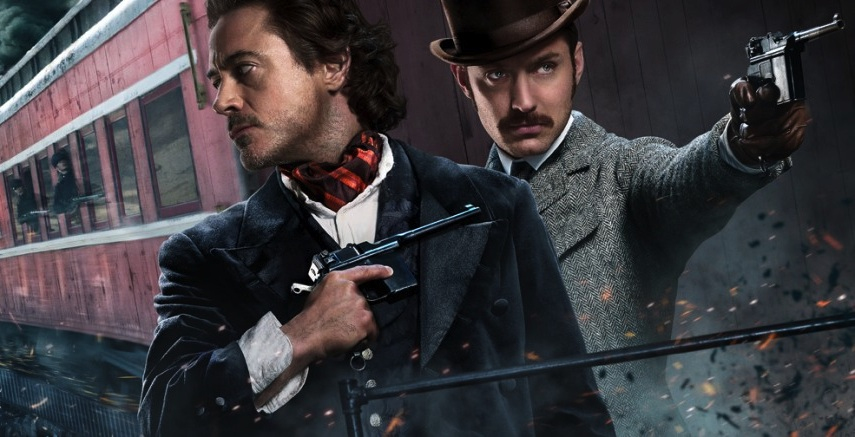 Sherlock Holmes: A Game of Shadows - Train banner (Robert Downey Jr and Jude Law)