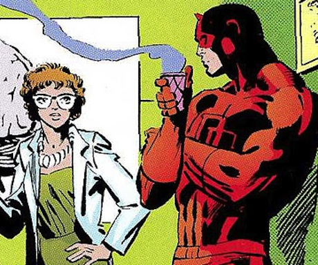 Behind the Panels - Daredevil Enjoys a Cup of Coffee