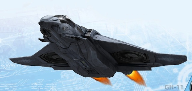 The Avengers (2012) concept art - Quinjet