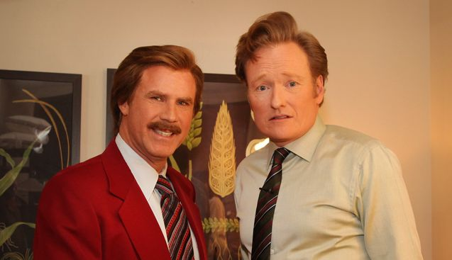 Ron Burgundy (Will Ferrell) and Conan O'Brien announce ANCHORMAN sequel