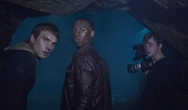 Chronicle - Inside a cave, Matt (Alex Russell, left), Steve (Michael B. Jordan) and Andrew (Dane DeHaan) make a discovery that will change their lives.