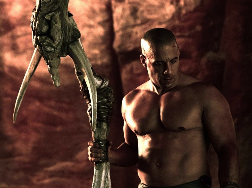 Shirtless Vin Diesel in RIDDICK