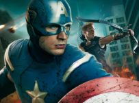 Captain America (Chris Evans) in THE AVENGERS film