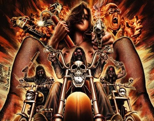 Frankenstein Created Bikers poster (Tom Hodge) - Nude Biker Chick