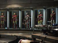 Iron Man 3 - First Official Photo - Robert Downey Jr and Iron Man Mark 1 through 7