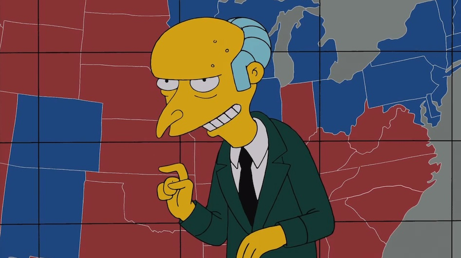 Mr. Burns Endorses Mitt Romney