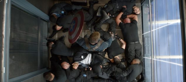 Captain America: The Winter Soldier - Elevator fight scene