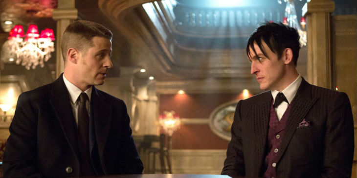 Jim Gordon (Ben McKenzie) and Penguin (Robin Lord Taylor) - Gotham Season 1