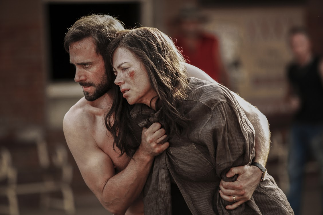 """Parker Pictures Productions presents """"Strangerland"""" a Film by Kim Farrant, Starring Nicole Kidman, Joseph Fiennes. Also Starring Hugo WeavingProducers, MacDara Kelleher, Naomi WenckExectuive Producers Christopher Woodros, Molly Conners, Richard Payten, Andrew Mackie"""