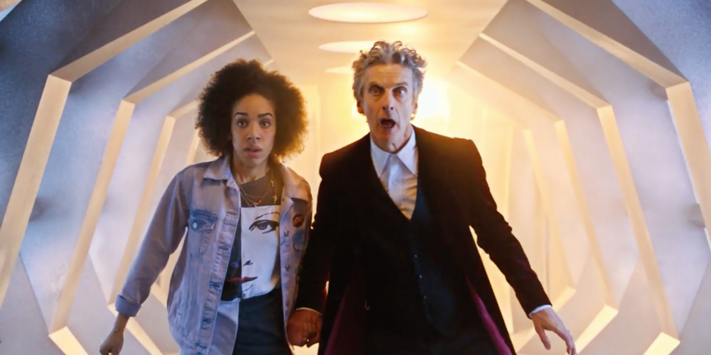 Doctor Who (Peter Capaldi) and Pearl Mackie