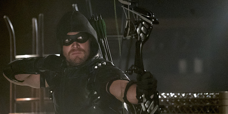 """Arrow -- """"The Candidate"""" -- Pictured: Stephen Amell as Green Arrow"""