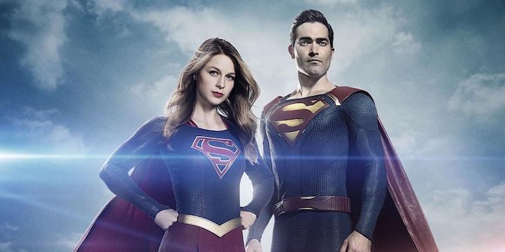 Tyler Hoechlin and Melissa Benoist as Superman and Supergirl