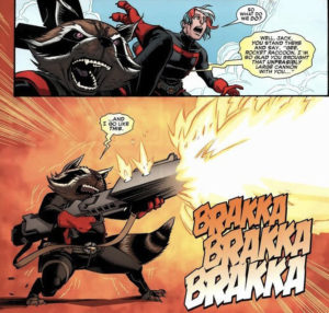 Rocket Raccoon and his cannon