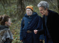 Programme Name: Doctor Who S10 - TX: 17/06/2017 - Episode: The Eaters of Light (No. 10) - Picture Shows: Kar (REBECCA BENSON), Nardole (MATT LUCAS), The Doctor (PETER CAPALDI) - (C) BBC/BBC Worldwide - Photographer: Simon Ridgway