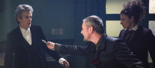 Programme Name: Doctor Who S10 - TX: 01/07/2017 - Episode: n/a (No. 12) - Picture Shows: The Doctor (PETER CAPALDI), The Master (JOHN SIMM), Missy (MICHELLE GOMEZ) - (C) BBC/BBC Worldwide - Photographer: Simon Ridgway