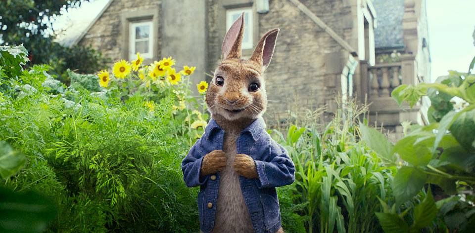 Peter Rabbit (James Corden) in Columbia Pictures' PETER RABBIT.