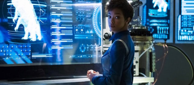 """The Butcher's Knife Cares Not for the Lamb's Cry"" -- Episode 104 -- Pictured: Sonequa Martin-Green as First Officer Michael Burnham. Photo Cr: Jan Thijs/CBS © 2017 CBS Interactive. All Rights Reserved."
