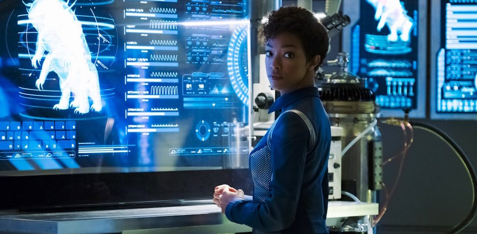 """""""The Butcher's Knife Cares Not for the Lamb's Cry"""" -- Episode 104 -- Pictured: Sonequa Martin-Green as First Officer Michael Burnham. Photo Cr: Jan Thijs/CBS © 2017 CBS Interactive. All Rights Reserved."""