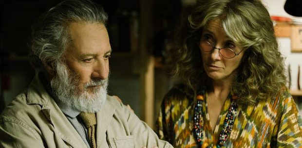 Dustin Hoffman and Emma Thompson in The Meyerowitz Stories (New and Selected).