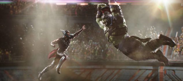 Marvel Studios Thor: Ragnarok..L to R: Thor (Chris Hemsworth) and Hulk (Mark Ruffalo)..Photo: Film Frame..©Marvel Studios 2017